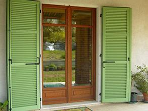 Serramenti e porte pigiemme persiane in legno e alluminio - Finestre monoblocco in legno ...